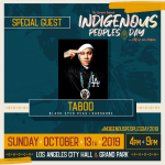 Entertainer Taboo at the Indigenous People's Day